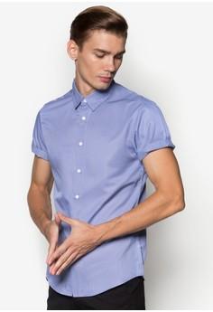 Micro Houndstooth Short Sleeve Shirt