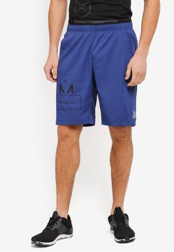 Reebok blue Les Mills 10 Inch Shorts RE691AA0SVXRMY_1