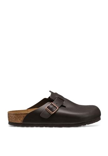 Birkenstock 褐色 Boston Smooth Leather Sandals 0DA0ASHD9EE43FGS_1