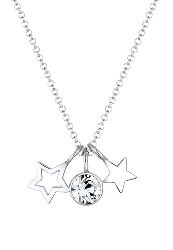 ELLI GERMANY silver Necklace Stars Astro Crystals EL474AC0SEV4MY_1