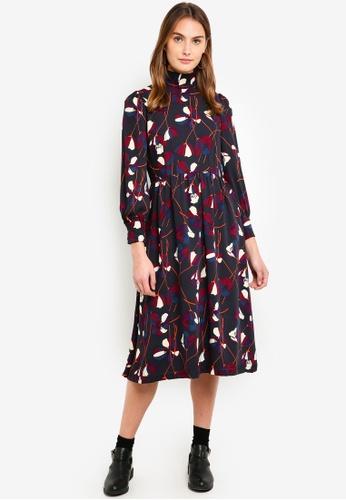 ESPRIT purple Light Woven Midi Dress 03601AA1A51A3EGS_1
