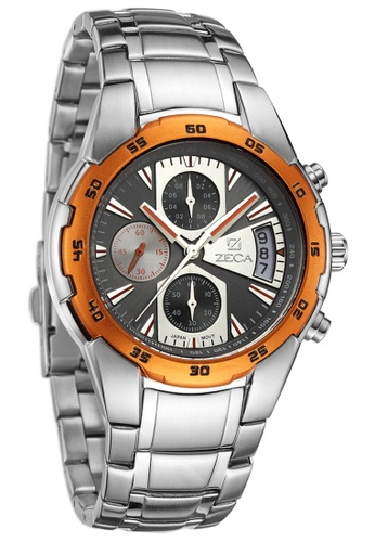 ZECA black and orange and silver Genoa Edition Male Analogue ZE260AC33SJASG_1