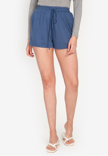 ZALORA BASICS blue Lounge Piped Pajama Shorts 4B5BDAABF66959GS_1