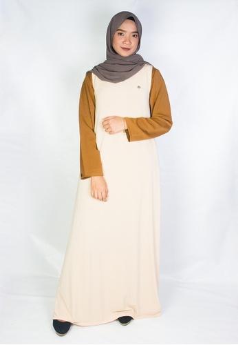 Zaryluq beige Inner Dress in Desert Beige 9BFAFAA87CC647GS_1