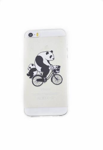 Fancy Cellphone Cases multi Panda Bike Soft Transparent Case for iPhone 5/5s/SE FA644AC82HURPH_1