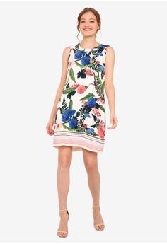 639a54d521e2 Wallis PETITE Cream Printed Shift Dress S$ 109.00. Sizes 8 10 12 14 16