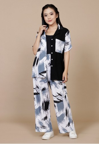 RHANI black and white and grey Kania Set Rayon 3E794AAC6A29FEGS_1