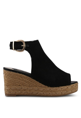 River Island black Espadrille Wedges ADF02SHAFCA07FGS_1