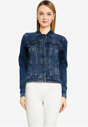 Springfield blue Organic Cotton Denim Jacket 1D16CAA3857FA9GS_1
