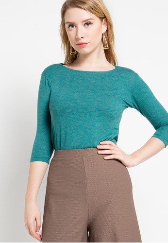 EDITION blue Knit Top 3/4 Sleeves ED101AA52ZMLID_1