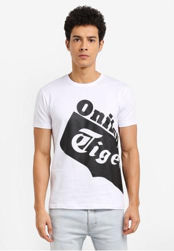 Onitsuka Tiger white Graphic T-Shirt ON067AA0SVX1MY_1