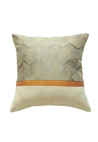 DILAS HOME grey Gold Striped Jacquard Cushion Cover (Grey) 12D7BHL0B0BE89GS_1