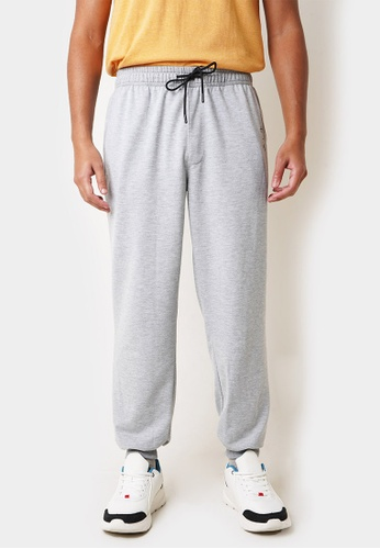 Penshoppe grey Track Pants with Pen Scribble 8E29EAA2AE7E67GS_1