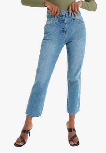 Trendyol blue High Waist Mom Jeans 3C5C1AAC9D0E9BGS_1