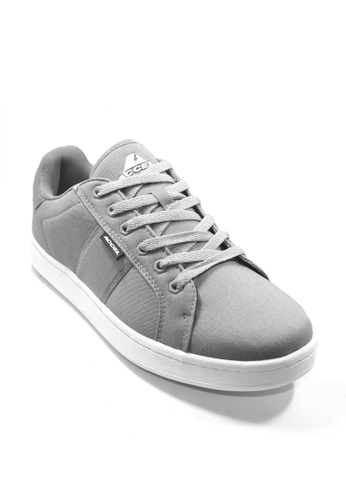 ACCEL grey and white CS Hyperlite Twill  Skate Shoes 508A8SH1D09F26GS_1