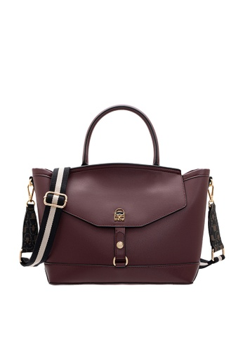 SEMBONIA red SEMBONIA Synthetic Leather Satchel Bag (Red) 2F594ACE4B0C98GS_1