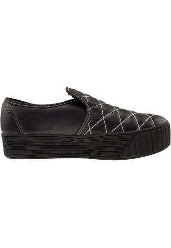 Maxstar black Maxstar Women's C30 Stitched PU Platform Slip On Shoes US Women Size MA164SH29QQGSG_1