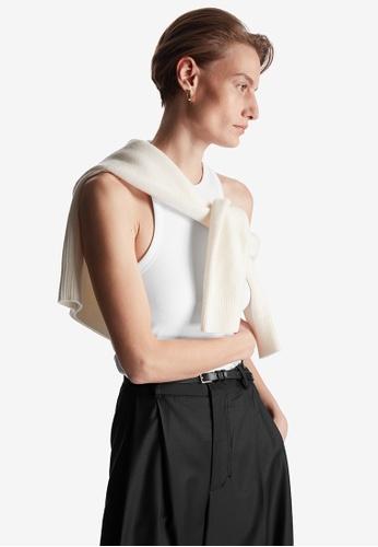 COS white Linen Vest 0115FAAD49773BGS_1