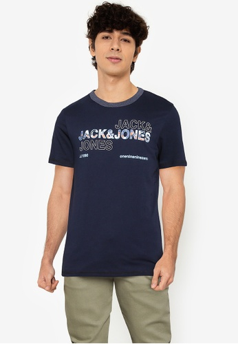 Jack & Jones navy Art Tee Short Sleeves Crew Neck Tee 68CD8AA583570DGS_1