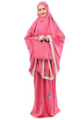 ukhuwah pink Mukena Bordir Ukhuwah Coral 046F8AADC6BF91GS_1