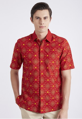 ASANA red Trunamanggala Short Sleeves 64884AA1D1993FGS_1