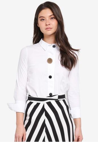 Haute Kelly white Si-Yeon Shirt 84C28AAED5A881GS_1