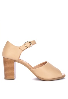 ad70388cd92f Malu Super Comfort beige Heeled Sandals Comfort Shoes EB18ESH2C2AADBGS 1
