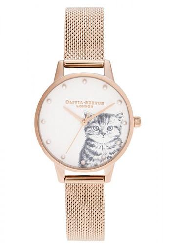 Olivia Burton gold Olivia Burton Illustrated Animals PALE ROSE GOLD Women's Watch (OB16WL88) 76E63AC4C5865CGS_1