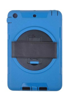 Shockproof Armor Case Silicone 360 Rotating Stand with Leather Belt for Apple iPad mini 3