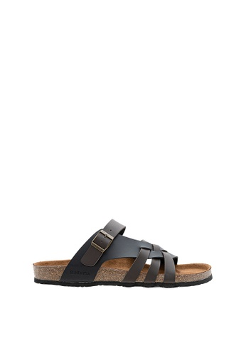 SEMBONIA brown SEMBONIA Men Synthetic Leather Sandal (Dark Brown) SE598SH0SZ87MY_1
