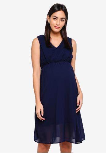 Mama.licious navy Yolanda Mary Woven Dress D5FD4AA7BAE755GS_1
