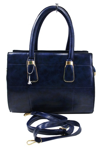 Vintage Paris blue Bekka Shoulder Bag With Sling VI567AC72MILPH_1