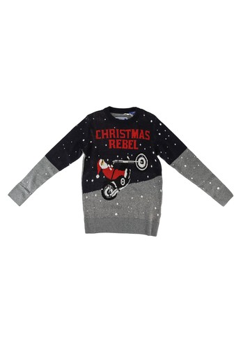 Jack & Jones black Craymas Knit Sweater 5269EKA2F8AE31GS_1