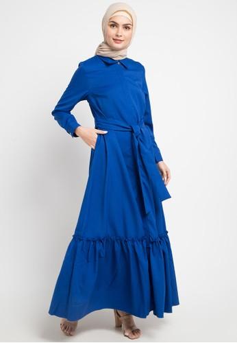 OMARA blue Paloma Dress 6152BAAB945322GS_1
