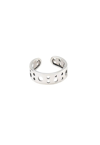 OrBeing 白色 Premium S925 Sliver Geometric Ring BA5EFACD8BDE63GS_1