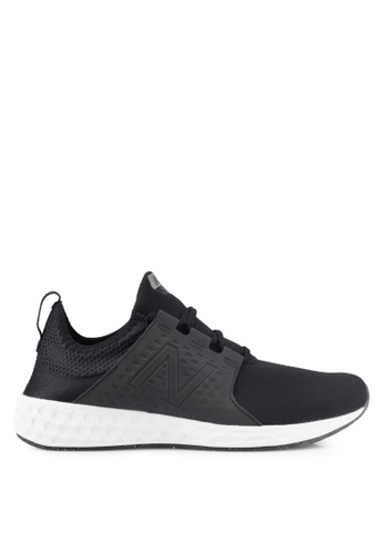 New Balance black Cruz Fresh Foam Performance Running Shoes NE323SH0SVCQMY_1