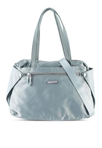 NUVEAU blue Lightweight Nylon Shoulder Bag D802DAC55CEF83GS_1