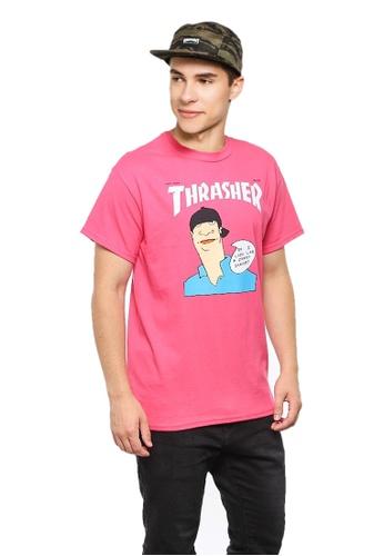 b11639e87197 Thrasher pink Thrasher Gonz Cover T-Shirt Pink 0C244AA78B3C57GS_1
