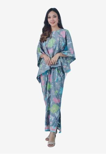 Batik by Emileeya grey Maryam Pareo Set in Grey 46DA0AAED23E64GS_1