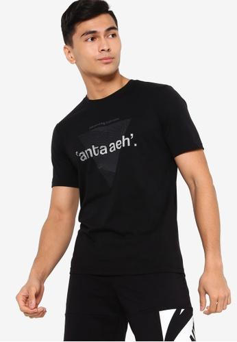 Anta black Aeh Short Sleeve Tee C2485AA2AEA53EGS_1