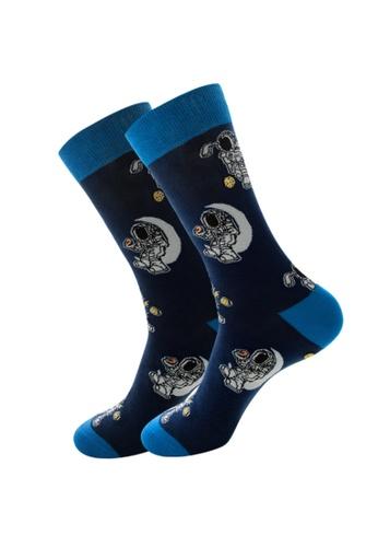 Kings Collection blue Blue Astronaut Cozy Socks (EU38-EU45) (HS202224) 3E2CEAA14944E1GS_1