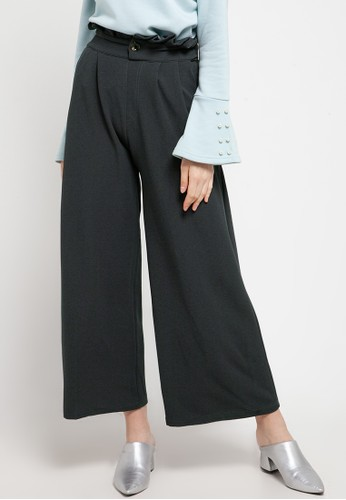 Imperial grey Chic Button Pants 4D389AA4C7094FGS_1