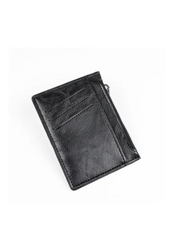 A FRENZ black Afrenz Slim Card Holder Pocket Wallets E7A3FACEC2FF63GS_1