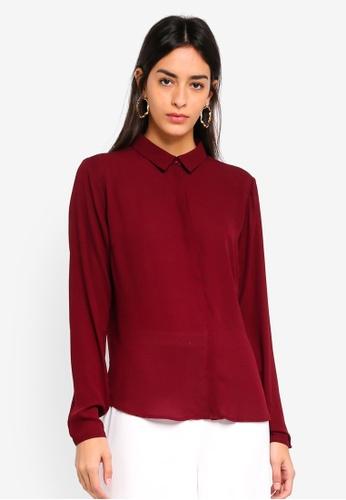 Modstrom red Cyler Collar Shirt 75714AA3C5841BGS_1