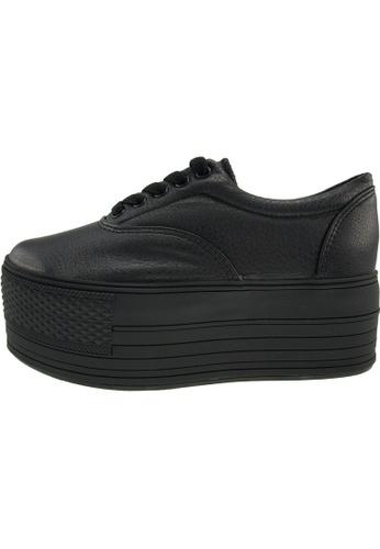 Maxstar 黑色 新款韩国鞋C60-5H-TC時尚皮革布混合女黑色 US Women Size MA345SH51HGQTW_1