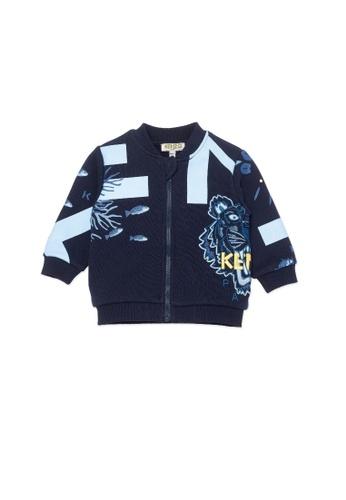 KENZO KIDS navy KENZO TIGER BABY BOYS SWEATSHIRT E8C96KA67A2184GS_1