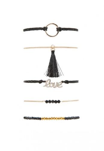 LUCCACAL gold 5 x Love Bracelet Set LU294AC78MYRMY_1