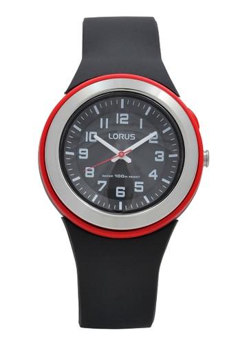 Lorus black LORUS Jam Tangan Wanita - Black Red - Silicon - R2303MX9 91BE2AC4670F5BGS_1