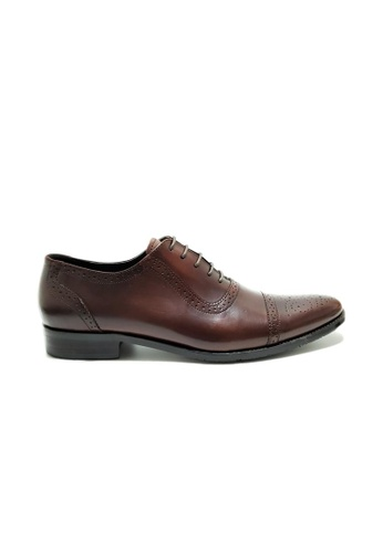 Kings Collection brown Bartlett Oxford Shoes 91896SHDEF95AEGS_1