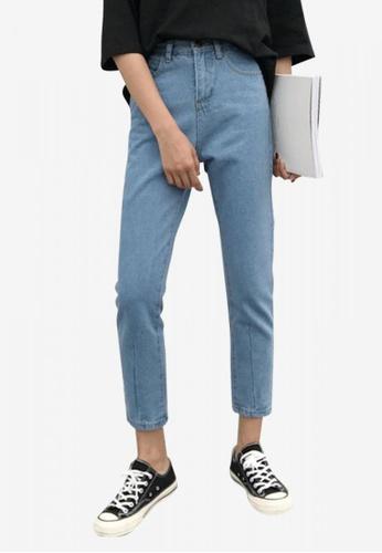 Lara blue Women's Cropped Jeans 3E818AA09470F3GS_1